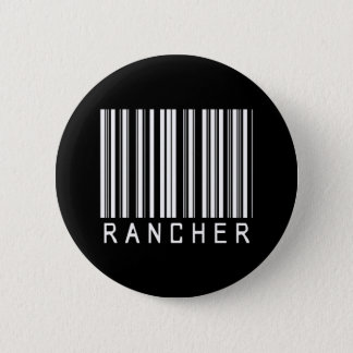 Rancher Bar Code 2 Inch Round Button