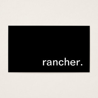Rancher Business Card