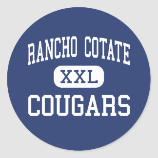 Rancho Cotate - Cougars - High - Rohnert Park Classic Round Sticker