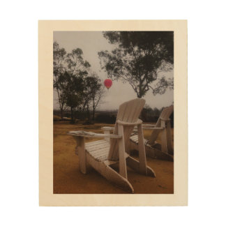 Rancho Del Vinedos Temecula, CA balloon view Wood Print