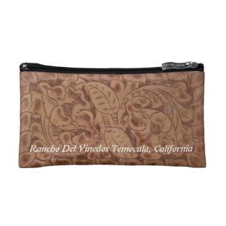 Rancho Del Vinedos Temecula CA MakeUp Leather look Makeup Bag
