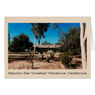 Rancho Del Vinedos Temecula greeting card backyard