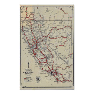 Rand McNally Junior Road Map California and Nevada Poster