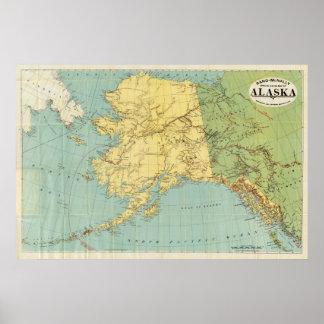 Rand McNally's Map Of Alaska Poster