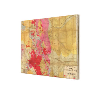 Rand McNally's new geological map Canvas Print
