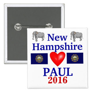 Rand Paul 2012 New Hampshire 2 Inch Square Button