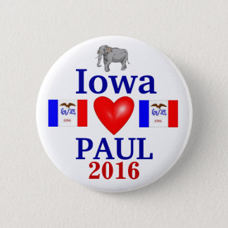 rand paul 2016 Iowa 2 Inch Round Button