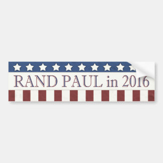 Rand Paul 2016 Stars and Stripes Bumper Sticker