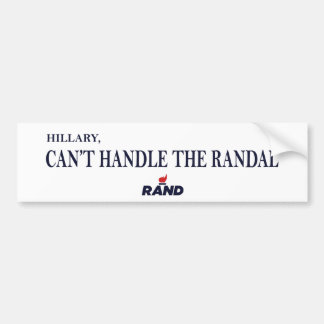 Rand Paul beats Hillary 2016 Bumper Sticker