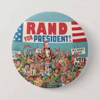 Rand Paul for President 2016 3 Inch Round Button