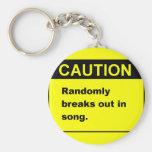 Randmon Song Key Chains