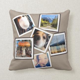 Random 6 Instagram Photo Collage Throw Pillow