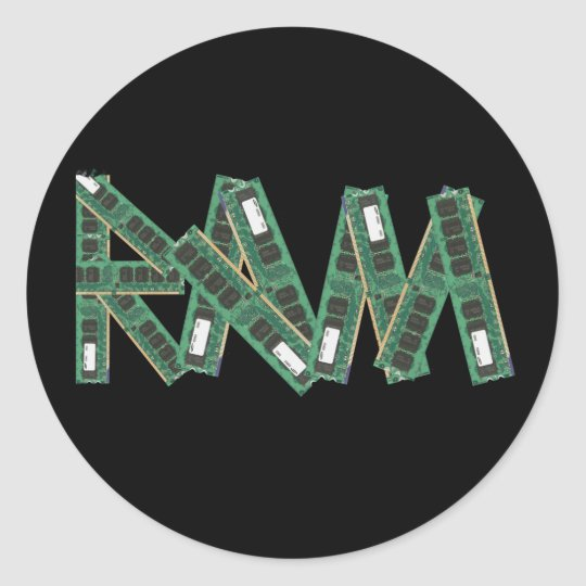 Random Access Memory Classic Round Sticker