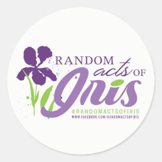 Random Acts of Iris Circle Sticker