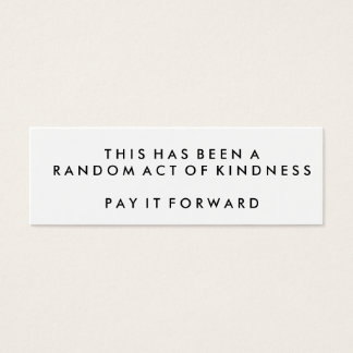 Random Acts of Kindness Challenge Cards