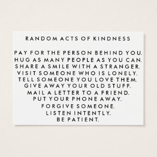 Random Acts of Kindness Pay It Forward Card I