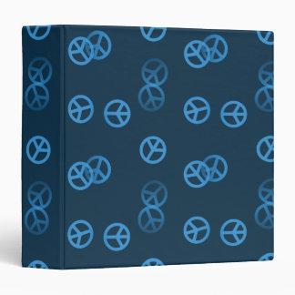 Random Blue Peace Sign Pattern Vinyl Binders