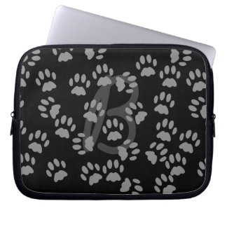 Random Cat Paw Print Pattern Laptop Sleeve