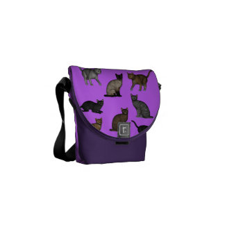 Random Cats Courier Bags