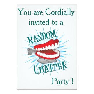 "Random Chatter Party 3.5"" X 5"" Invitation Card"