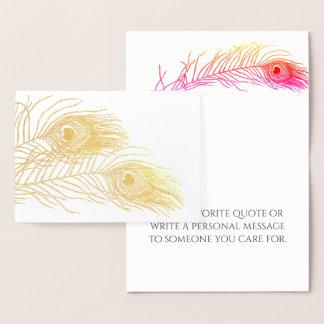 Random Feather Gold Foil Card