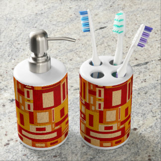 Random Geometric Retro Modern Art Bath Set