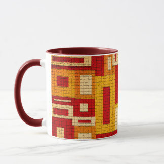 Random Geometric Retro Modern Art Coffee Mug