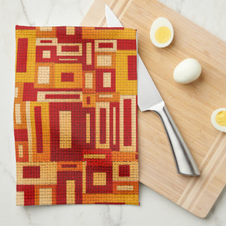 Random Geometric Retro Modern Art Kitchen Towel