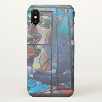Random Graffiti Face Houston iPhone X Case