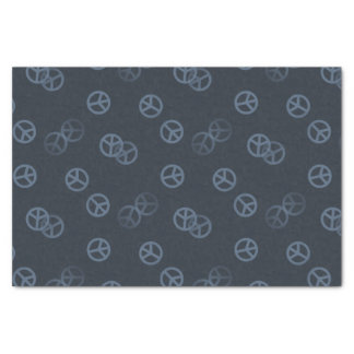 Random Gray Peace Sign Pattern Tissue Paper