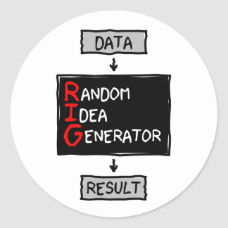 Random Idea Generator (RIG the Data) Sticker