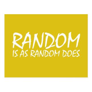 Random is as Random Does Postcard