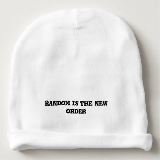 Random is the New Order Text Baby Beanie