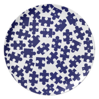 Random Jigsaw Pieces Plate