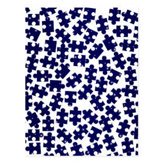 Random Jigsaw Pieces Postcard
