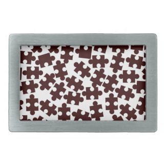 Random Jigsaw Pieces Rectangular Belt Buckles