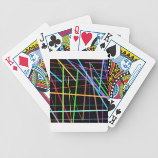 Random Lines 90's Retro Neon Bicycle Playing Cards