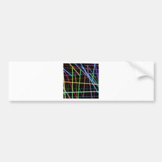 Random Lines 90's Retro Neon Bumper Sticker