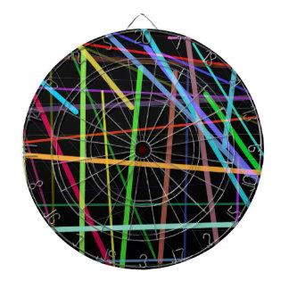 Random Lines 90's Retro Neon Dartboard