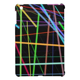 Random Lines 90's Retro Neon iPad Mini Cover