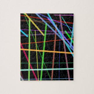 Random Lines 90's Retro Neon Jigsaw Puzzle