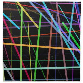 Random Lines 90's Retro Neon Napkin