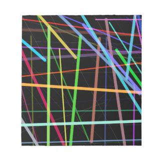 Random Lines 90's Retro Neon Notepad
