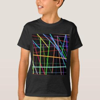 Random Lines 90's Retro Neon T-Shirt