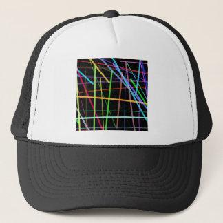 Random Lines 90's Retro Neon Trucker Hat