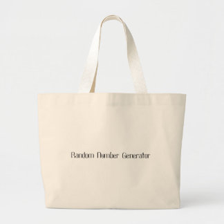 Random Number Generator Large Tote Bag
