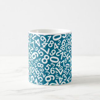 Random Numbers Pattern Coffee Mug