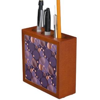 Random polka dots, fun, colorful, pattern,xmas,hap desk organizer