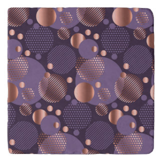 Random polka dots, fun, colorful, pattern,xmas,hap trivet