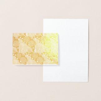 Random polka dots, fun, colourful, foil card